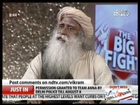 Sadhguru On NDTV Big Fight: The God Particle