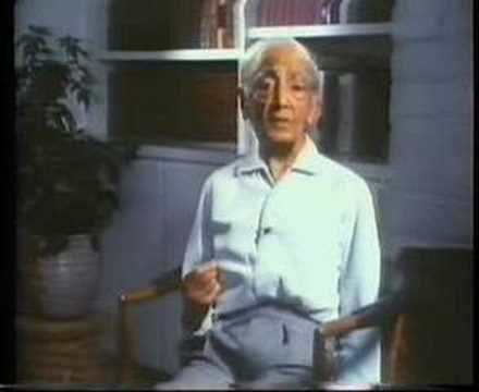 Krishnamurti: Why Don