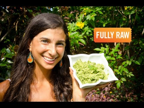 Kristina Carrillo-Bucaram: Low Fat Raw Vegan Pesto!