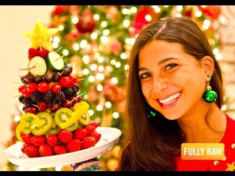 Kristina Carrillo-Bucaram: FullyRaw Edible Christmas Trees!